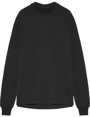 Rick Owens - Cotton-jersey Sweatshirt - Black $440 thestylecure.com