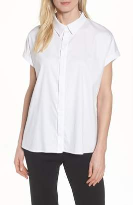 Ming Wang Pleat Back Blouse