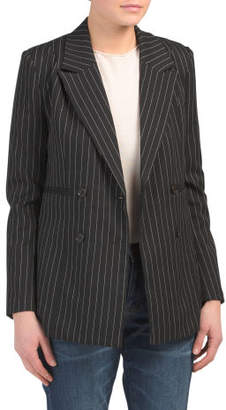 Juniors Double Breasted Blazer