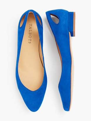 Talbots Edison Leather Flats - Kid Suede