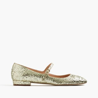 Mary Jane flats in glitter $148 thestylecure.com
