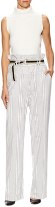 Paul Smith Stripe Belted Straight Leg Pant