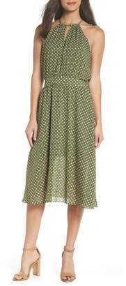 NSR Polka Dot Halter Dress