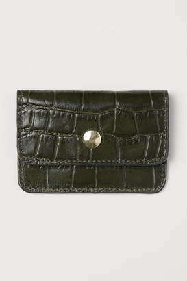 H&M Leather Card Case - Green