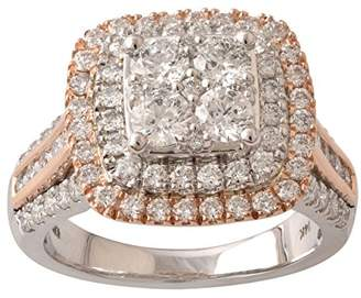 14k Two-Tone Gold Round Diamond Engagement Ring (2cttw