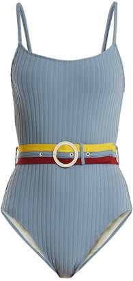 Solid & Striped The Nina waist-belt swimsuit
