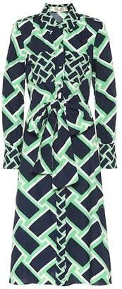 Diane von Furstenberg Printed cotton midi dress