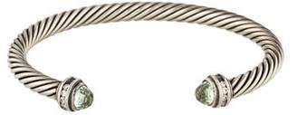 David Yurman Prasiolite & Diamond Cable Classics Bracelet