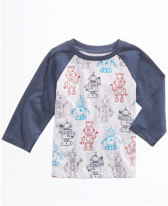 First Impressions Robot-Print Cotton T-Shirt, Baby Boys, Created for Macy's