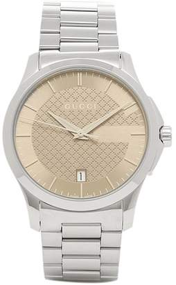Gucci G-Timeless YA126445 Stainless Steel Brown Dial 38mm Watch