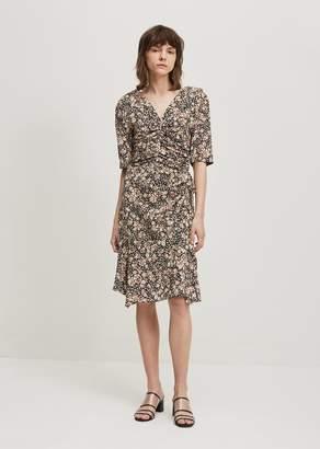 Isabel Marant Brodie Printed Silk Dress Black