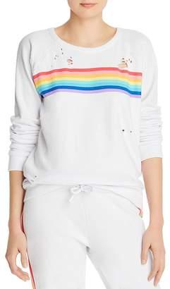 Chaser Rainbow Stripe Sweatshirt