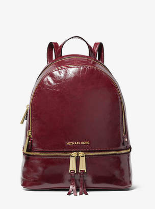 Michael Kors Rhea Medium Crinkled Calf Leather Backpack