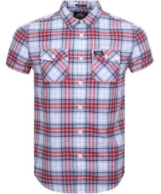 Superdry Short Sleeve Washbasket Check Shirt Red