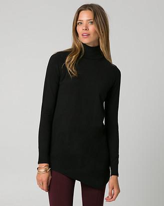 Le Château Viscose Blend Mock Neck Tunic Sweater