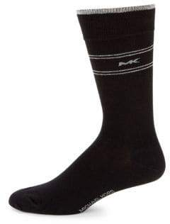 Michael Kors Striped Crew Socks
