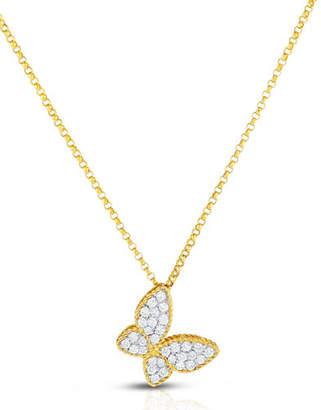 Roberto Coin 18K Diamond Butterfly Pendant Necklace