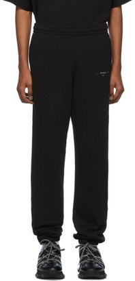 Off-White Off White Black and Silver Unfinished Slim Lounge Pants