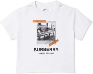 Burberry Vintage Polaroid Print Cotton T-shirt