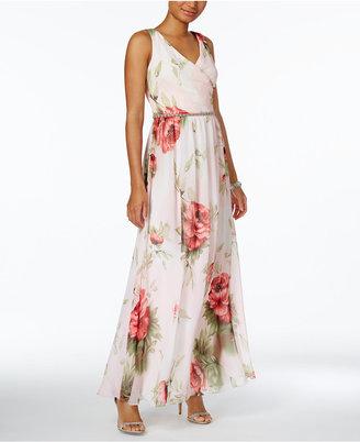 SL Fashions Floral-Print A-Line Gown $119 thestylecure.com