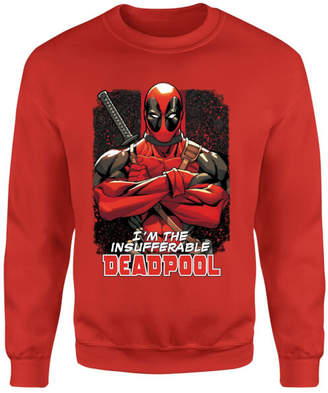 Marvel Deadpool Crossed Arms Sweatshirt - Red
