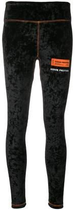 Heron Preston logo patch fitted leggings