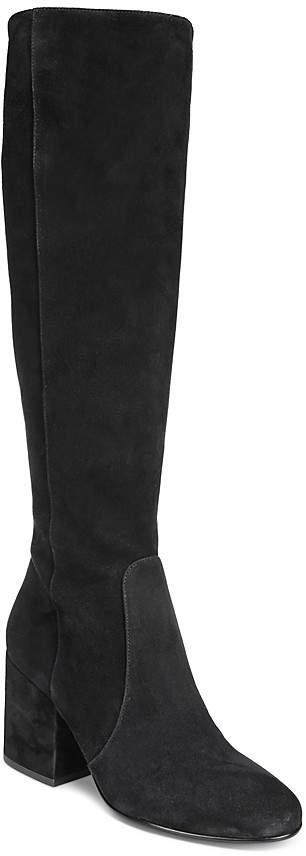 Sam Edelman Women's Thora Suede Tall Block Heel Boots