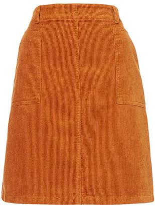 Tu clothing Tan A Line Cord Skirt