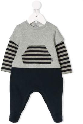 Il Gufo striped panel pajamas