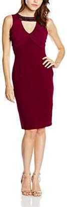 Elise Ryan Women's Neck Trim Pencil Dress,8