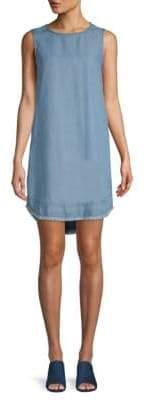 Frayed Chambray Dress