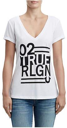 True Religion STRIPED SHIRTTAIL TEE