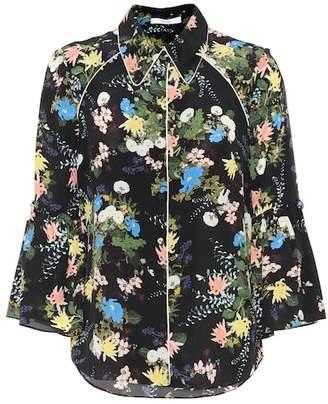 Erdem Aran floral-printed silk blouse