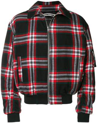 McQ tartan bomber jacket