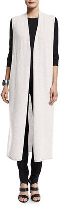 Eileen Fisher Drama Long Cashmere Vest $398 thestylecure.com