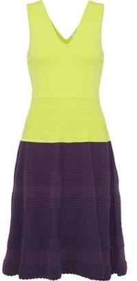 M Missoni Two-Tone Crochet-Knit Cotton-Blend Dress