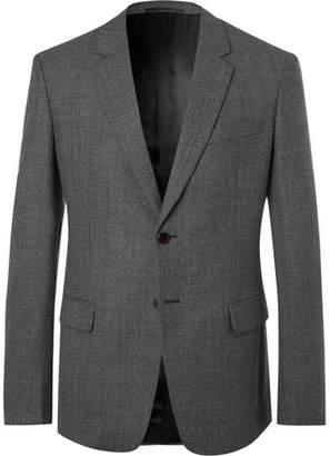 Prada Grey Fantasia Slim-Fit Mélange Wool Suit Jacket
