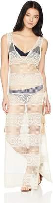Pilyq Women's Beige Long Lace Joy Cover Up Swimsuit