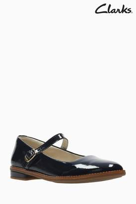 4609b0d5a1d8 Next Girls Clarks Navy Leather Patent Drew Sky Junior Mary Jane Shoes