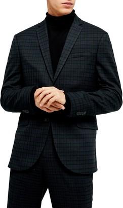 Topman Bampton Check Skinny Fit Suit Jacket