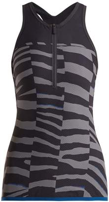 adidas by Stella McCartney Train Miracle tiger-stripe print tank top