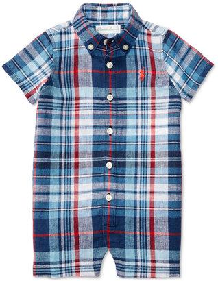 Ralph Lauren Plaid Romper, Baby Boys (0-24 months) $39.50 thestylecure.com