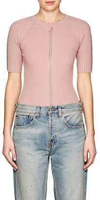 Alexander Wang Women's Embellished Cotton-Blend Short-Sleeve Sweater
