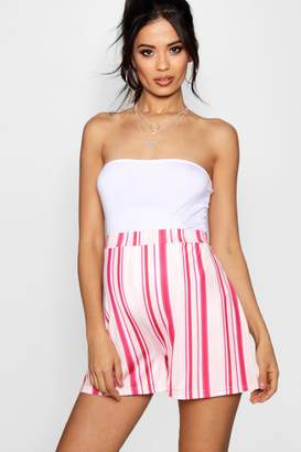 boohoo Maternity Over The Bump Striped Flippy Short