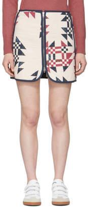 Isabel Marant Ecru Lickly Origami Miniskirt