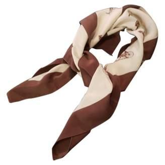 Celine Vintage Beige Silk Silk handkerchief