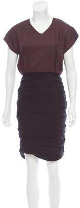 Fendi Cutout-Accented Colorblock Dress