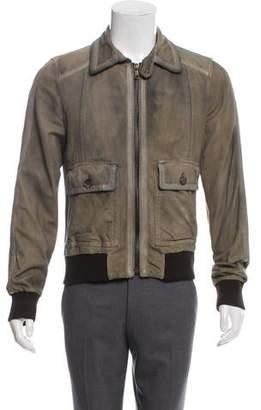 90a5168fa Mens Dolce Gabbana Leather Bomber Jacket - ShopStyle