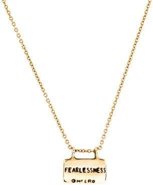 Me & Ro Me&Ro 10K Fearlessness Slate Pendant Necklace