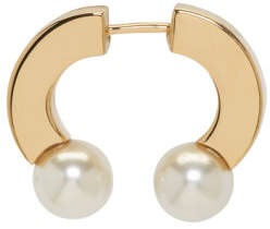 Chloé Gold and Pearl Single Darcey Earring